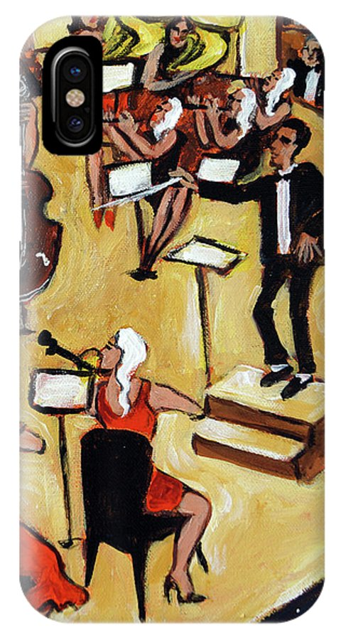 Carnegie Hall Orchestra IPhone X Case featuring the painting Symphony by Valerie Vescovi