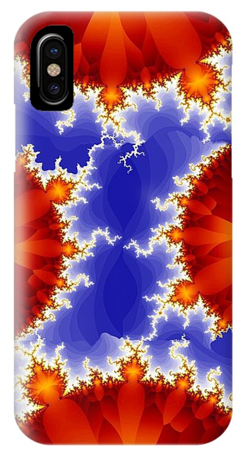 Fractal IPhone X / XS Case featuring the digital art Synaptic 5 by Ron Bissett