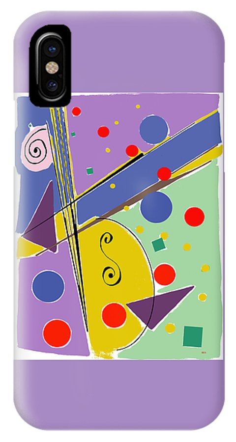 Abstract IPhone X Case featuring the digital art Syncopated Rhythm by Lois Boyce