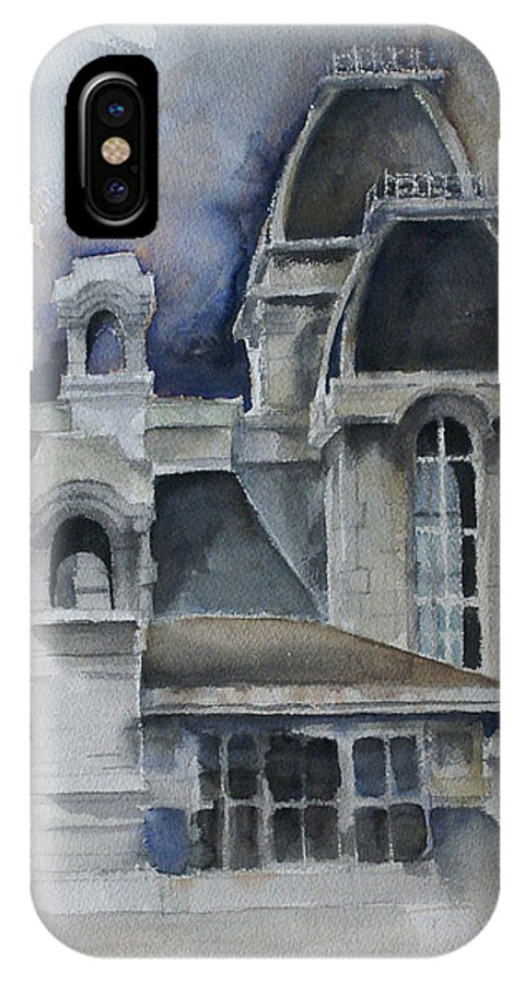 Architecture IPhone Case featuring the painting Syracuse University by Michael Lang
