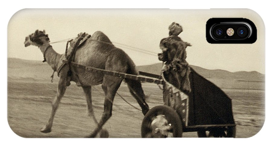 1938 IPhone X Case featuring the photograph SYRIA: CAMEL RACE, c1938 by Granger