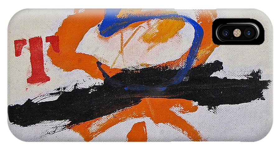 Abstract Paintings IPhone X Case featuring the painting T S Notebook by Cliff Spohn