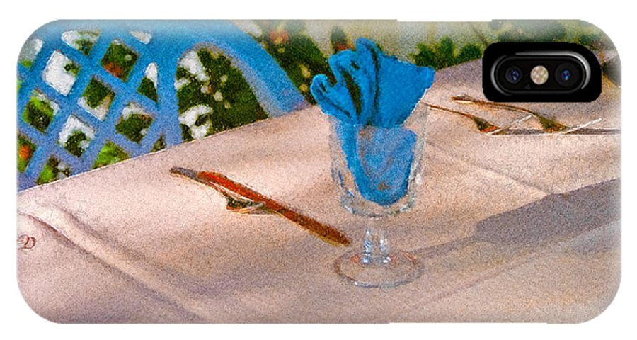 Table IPhone Case featuring the painting Table Setting by Peter J Sucy