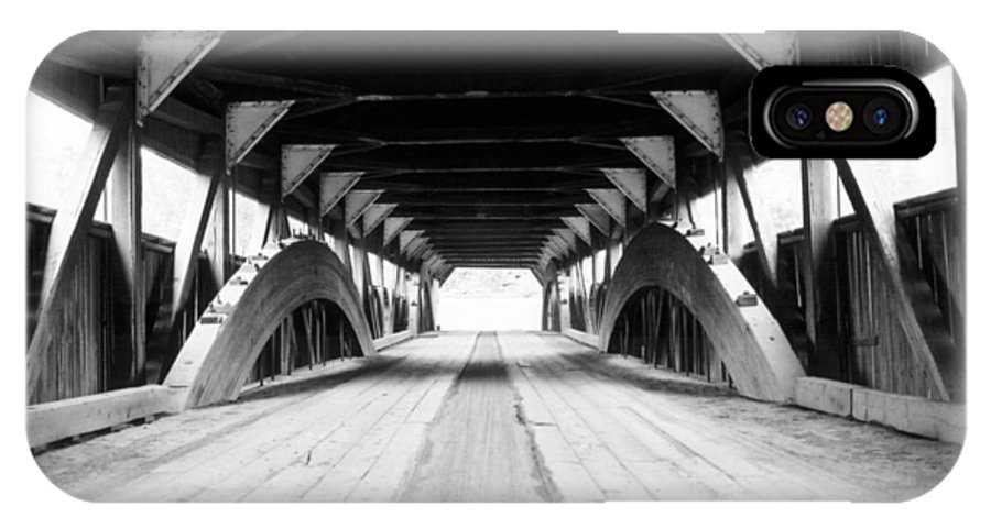 Bridge IPhone X Case featuring the photograph Taftsville Covered Bridge by Greg Fortier