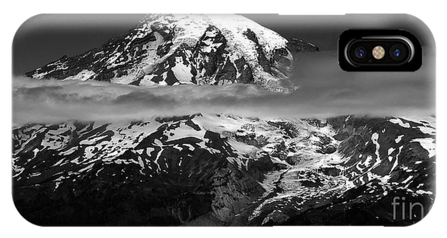 Fine Art Photography IPhone X Case featuring the photograph Tahoma by David Lee Thompson