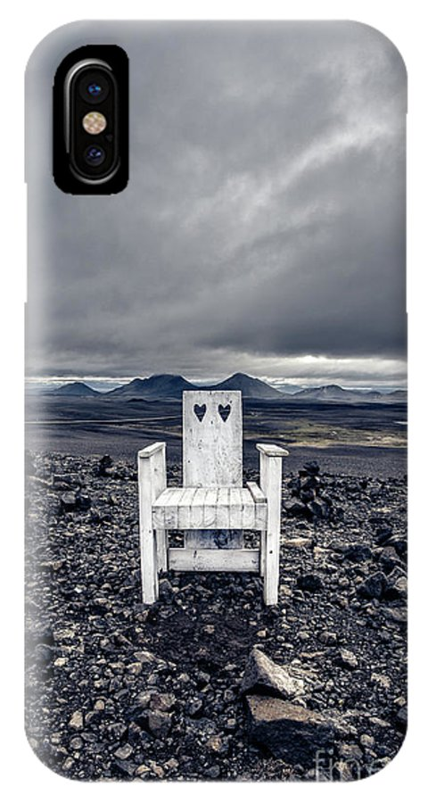 Chair IPhone X Case featuring the photograph Take A Seat Iceland by Edward Fielding