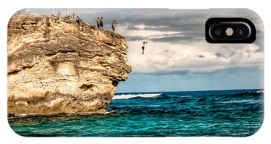 Cliff IPhone X Case featuring the photograph Take The Plunge by Natasha Bishop
