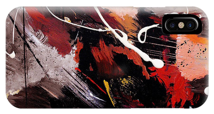 Abstract IPhone Case featuring the painting Take To Heart by Ruth Palmer