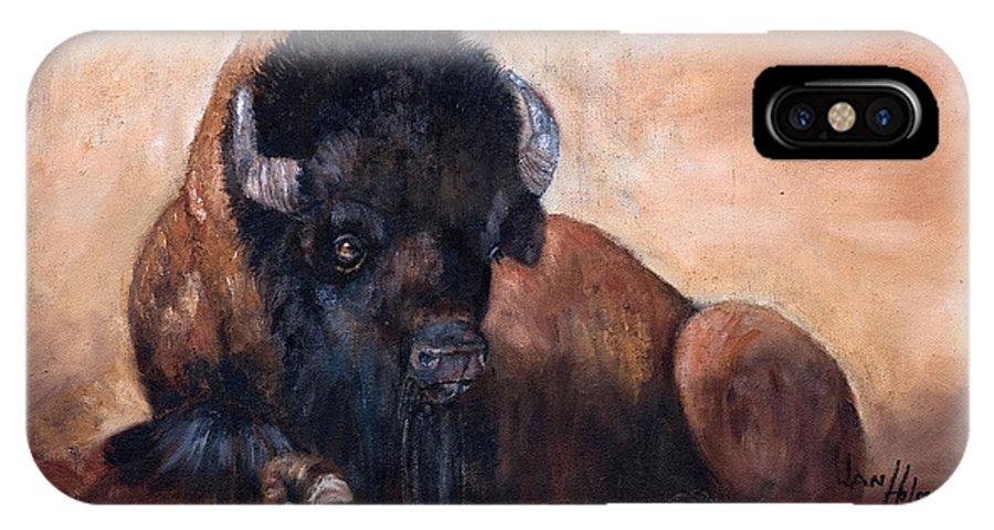 Jan Holman Art Paintings 2010 IPhone X Case featuring the painting Takin' A Break by Jan Holman