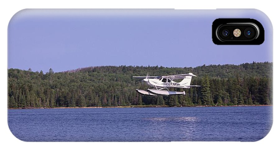 Float Plane IPhone X Case featuring the photograph Taking Off by Marjorie Imbeau