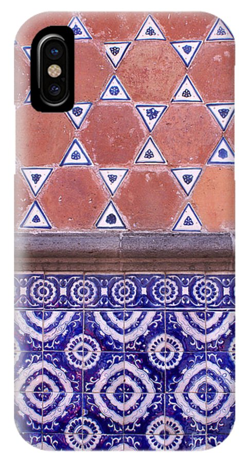 Talavera Tiles Of The Exterior Of The Museo Casa Del Alfenique IPhone X Case featuring the photograph Talavera Tiles Puebla Mexico by John Mitchell