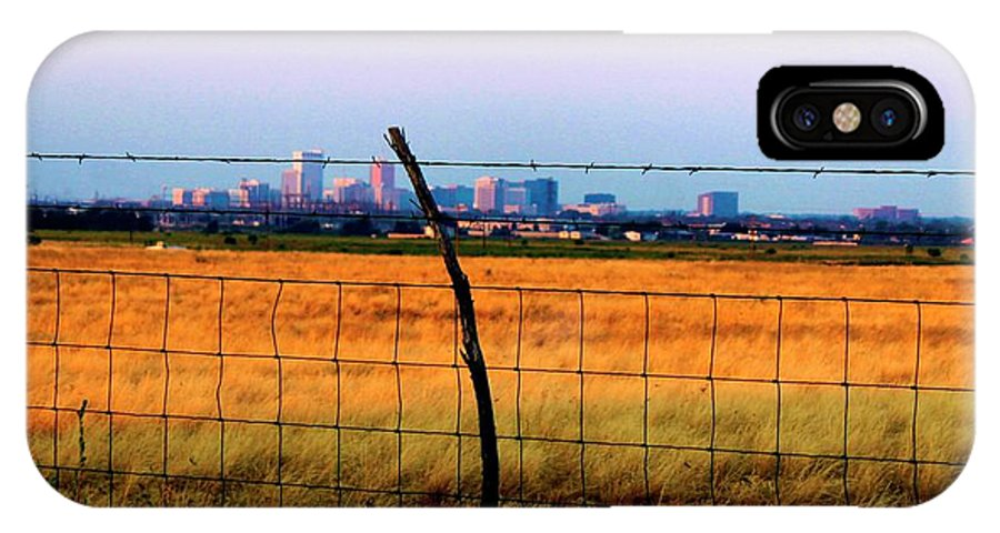 City IPhone X Case featuring the photograph Tall City Morning by Suzan Madison Casey