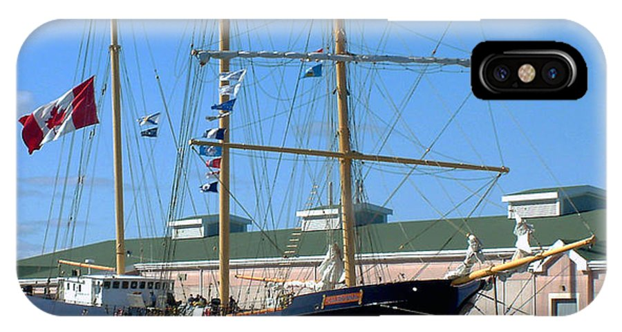 Dock IPhone Case featuring the photograph Tall Ship Waiting by RC DeWinter
