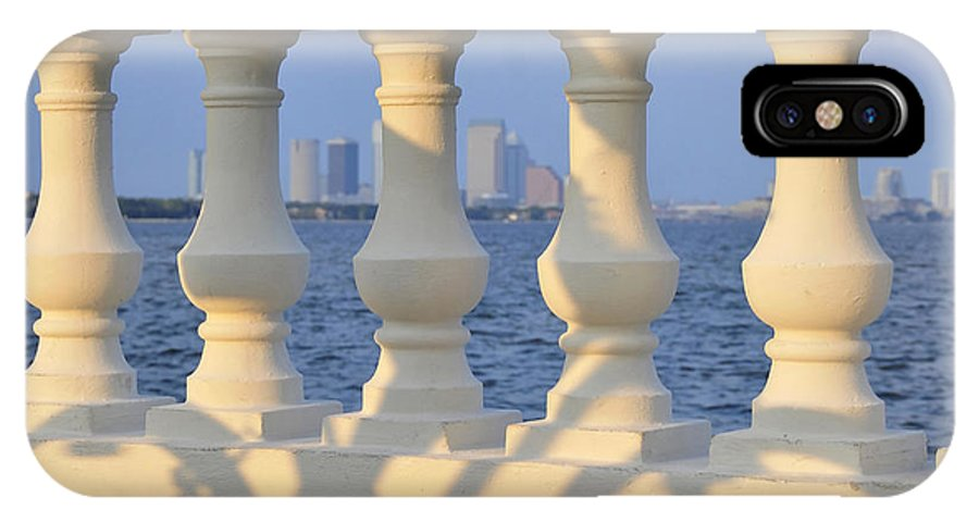 Fine Art Photography IPhone X Case featuring the photograph Tampa Bay Cycling by David Lee Thompson