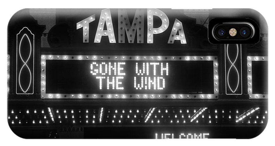 Tampa Theatre IPhone X Case featuring the photograph Tampa Theatre 1939 by David Lee Thompson
