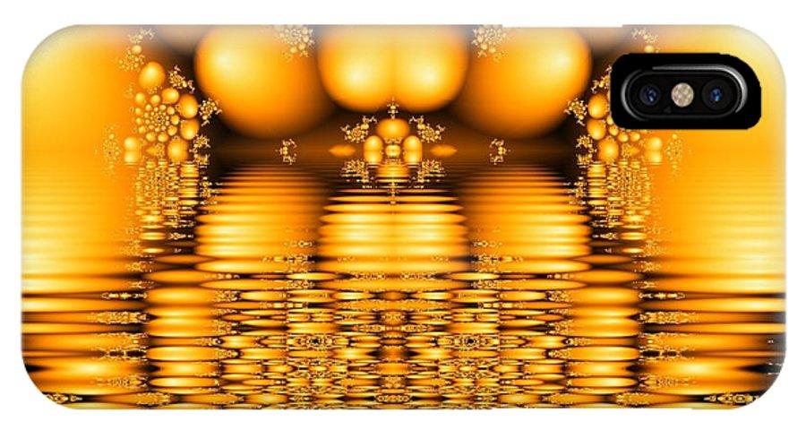 Tangerine Orange Water Sacred Tears IPhone X Case featuring the digital art Tangerine Tears by Veronica Jackson