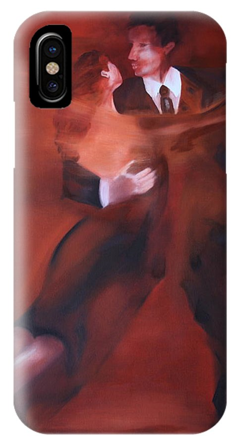 Tango IPhone X Case featuring the painting Tango No.1 by Harri Spietz