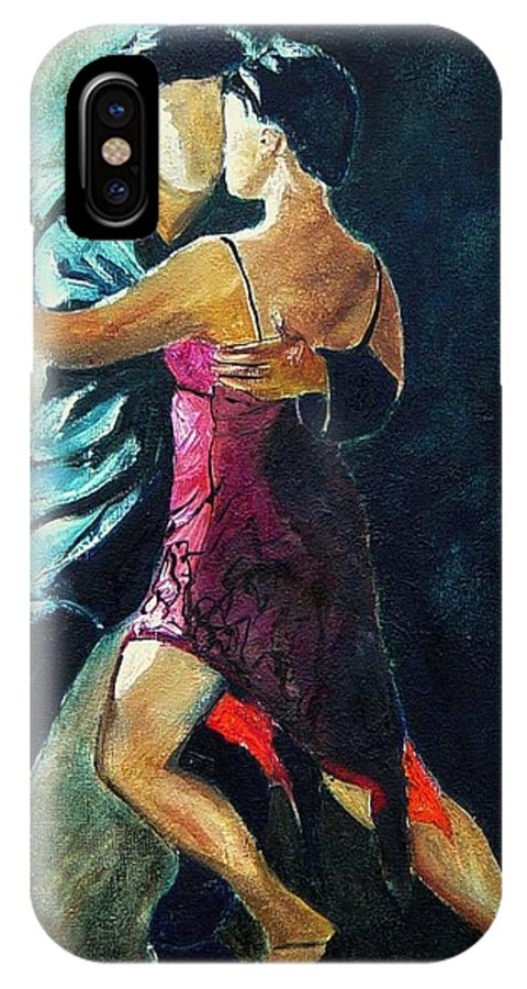 Tango IPhone Case featuring the painting Tango by Pol Ledent