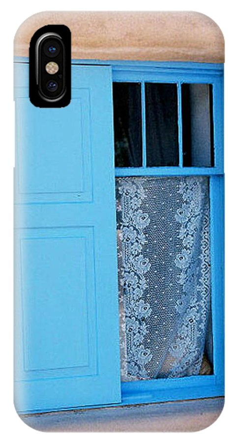 Window IPhone X Case featuring the photograph Taos Window by Diana Davenport