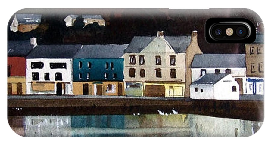 Landscape IPhone X Case featuring the painting Tarbert Reflections by Paul Dene Marlor