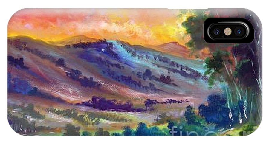Landscape IPhone Case featuring the painting Tarde De Sol by Leomariano artist BRASIL