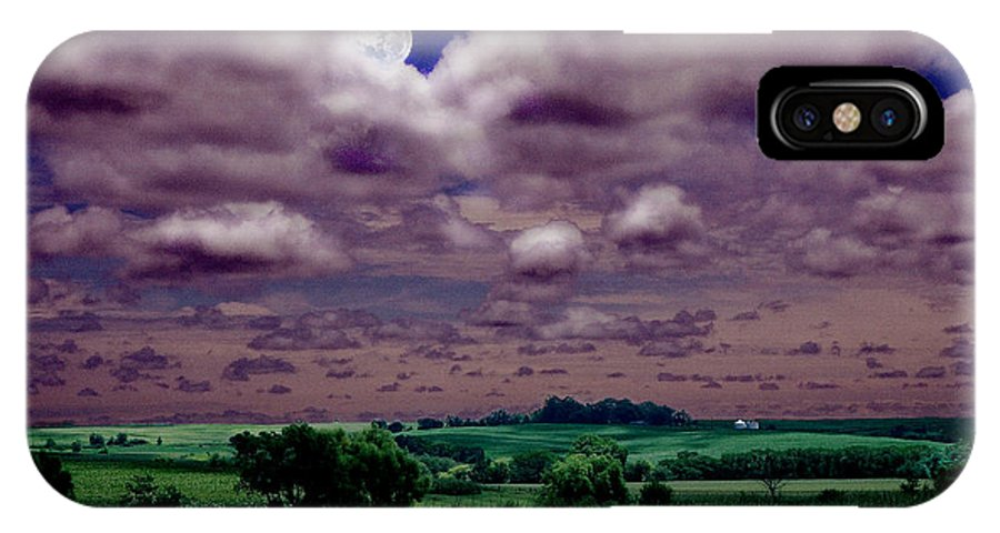 Landscape IPhone X Case featuring the photograph Tarkio Moon by Steve Karol