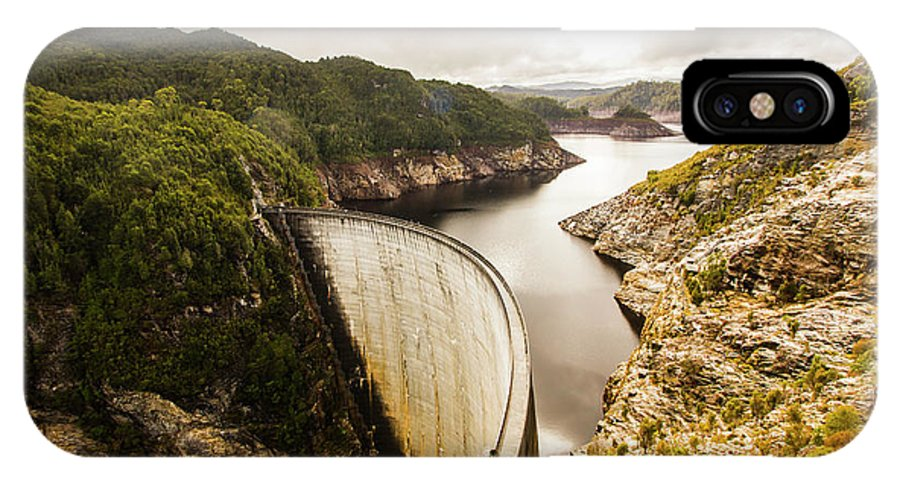 Dam IPhone X Case featuring the photograph Tasmania Hydropower Dam by Jorgo Photography - Wall Art Gallery