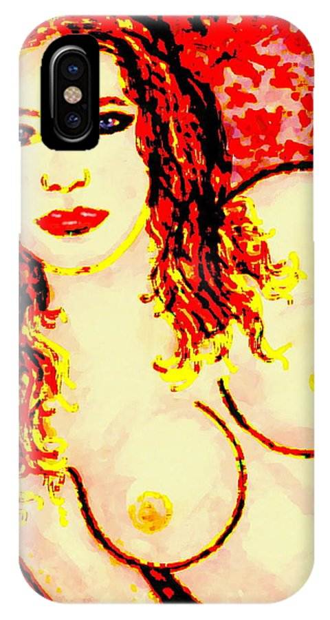Female IPhone Case featuring the painting Tatiana by Natalie Holland