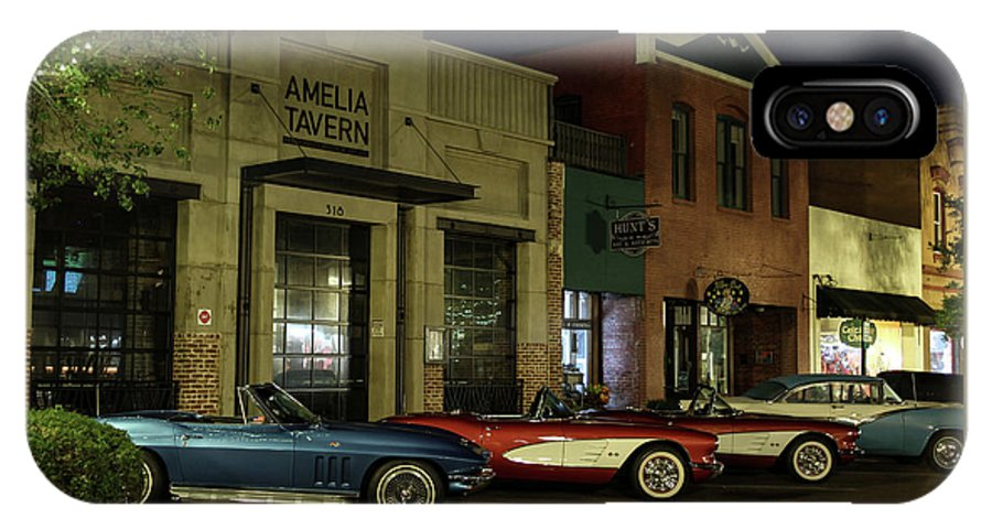 Car Show IPhone X Case featuring the photograph Tavern Parking by Timothy Cummiskey