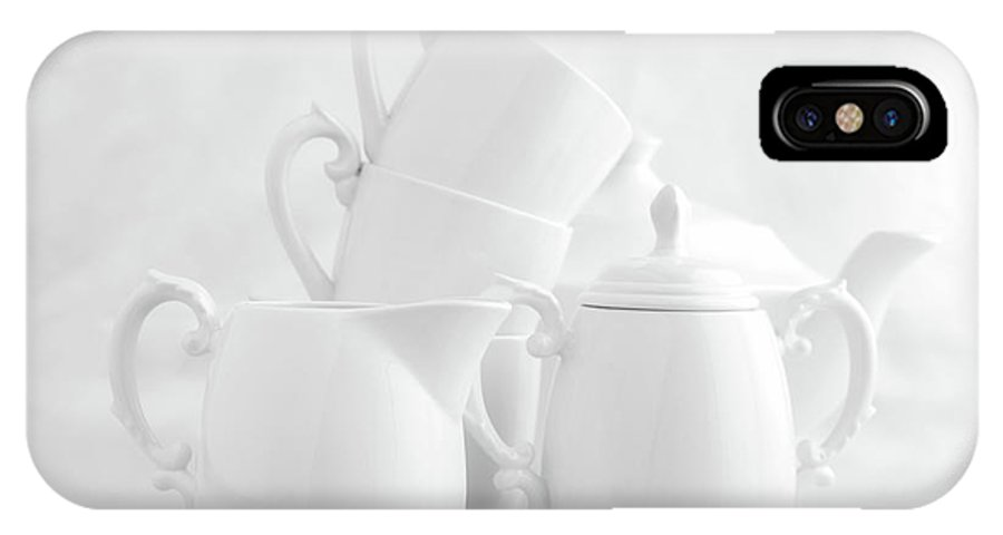 China IPhone X Case featuring the photograph Tea For Three In White by Tom Mc Nemar