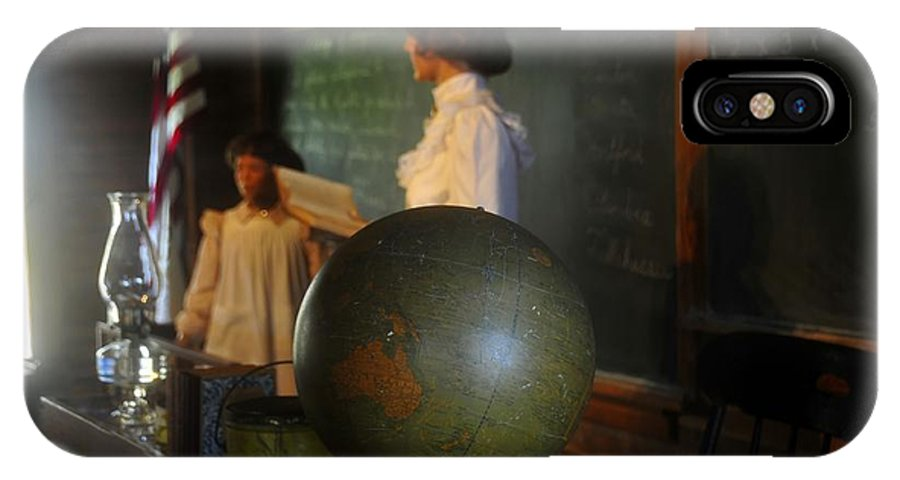 1800s IPhone X Case featuring the photograph Teaching Globe by David Lee Thompson
