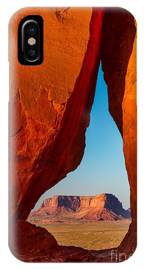 America IPhone X Case featuring the photograph Teardrop Arch by Inge Johnsson