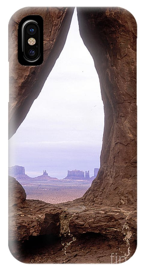 Monument Valley IPhone X Case featuring the photograph Teardrop Arch-monument Valley by Sandra Bronstein