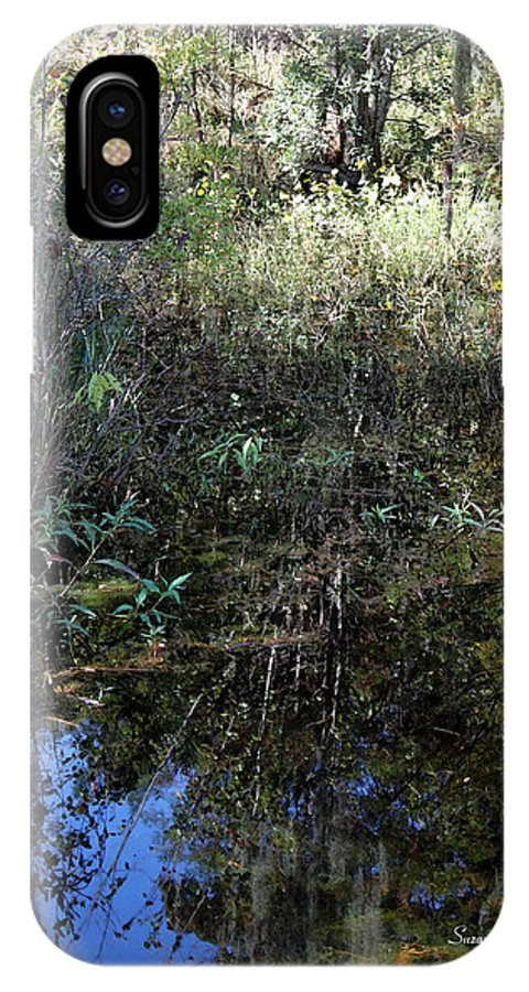 Swamp IPhone X / XS Case featuring the photograph Teeming With Life by Suzanne Gaff