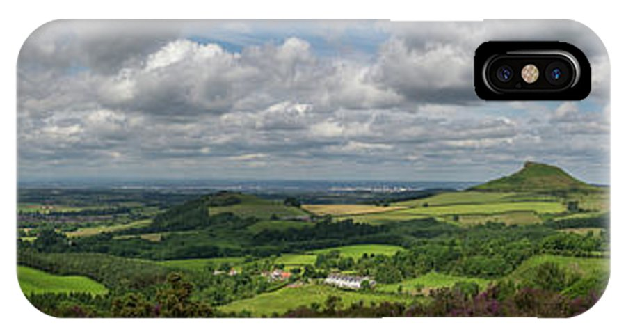 Cleveland IPhone X Case featuring the photograph Tees Plain And Roseberry Topping by Gary Eason