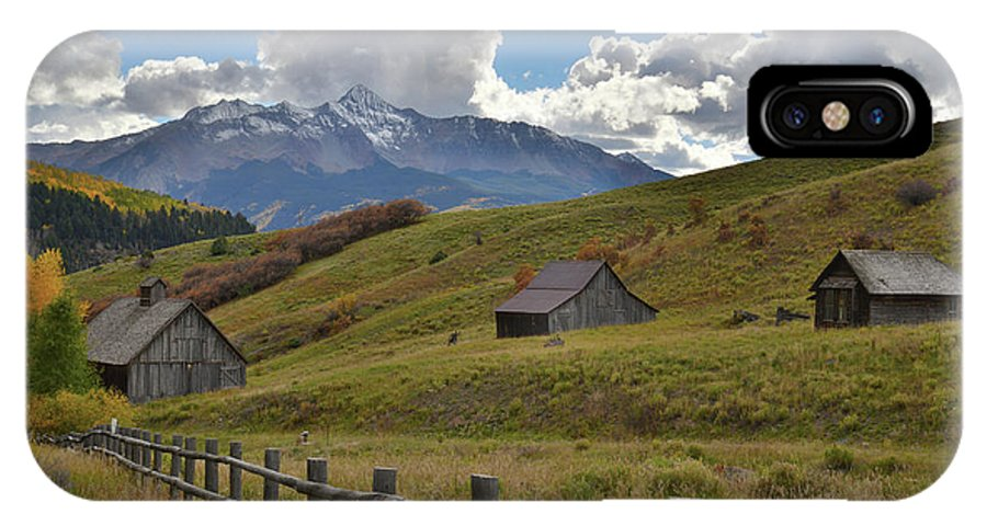 Colorado IPhone X Case featuring the photograph Telluride Countryside by Ray Mathis