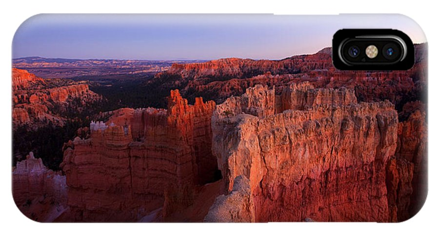 Hoodoo IPhone X Case featuring the photograph Temple Of The Setting Sun by Mike Dawson