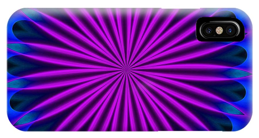 Fine Art IPhone X Case featuring the digital art Ten Minute Art 102610a by David Lane
