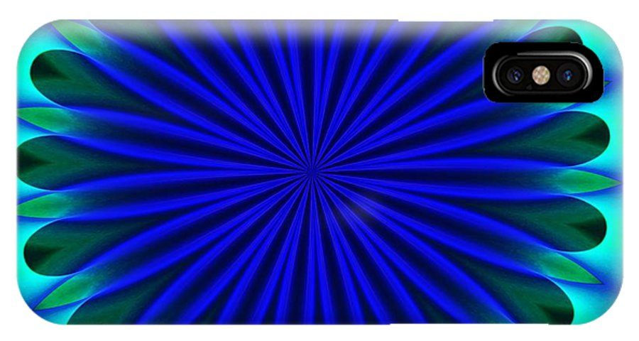 Fine Art IPhone X Case featuring the digital art ten minute art 102610B by David Lane