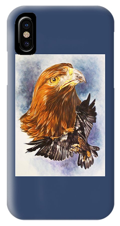 Eagle IPhone X Case featuring the mixed media Tenacity by Barbara Keith