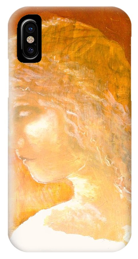 Angel IPhone X Case featuring the painting Tender Mercy by J Bauer