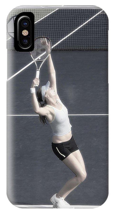 Tennis IPhone X Case featuring the photograph Tennis Art- Daniela Hantuchova by Steven Sparks