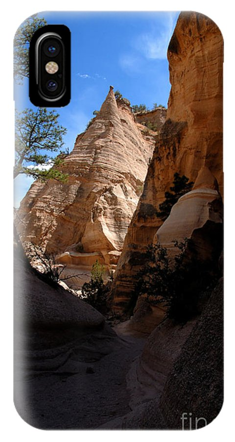Tent Rocks Wilderness New Mexico IPhone X Case featuring the photograph Tent Rocks Canyon by David Lee Thompson