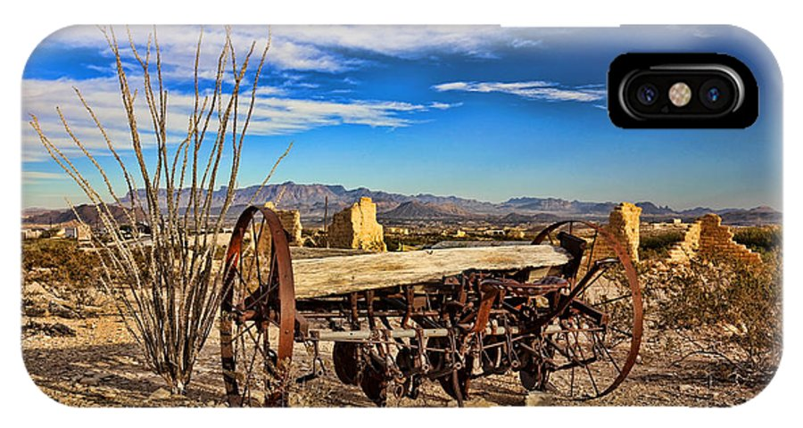 Terlingua IPhone X Case featuring the photograph Terlingua Ghost Town 2 by Judy Vincent