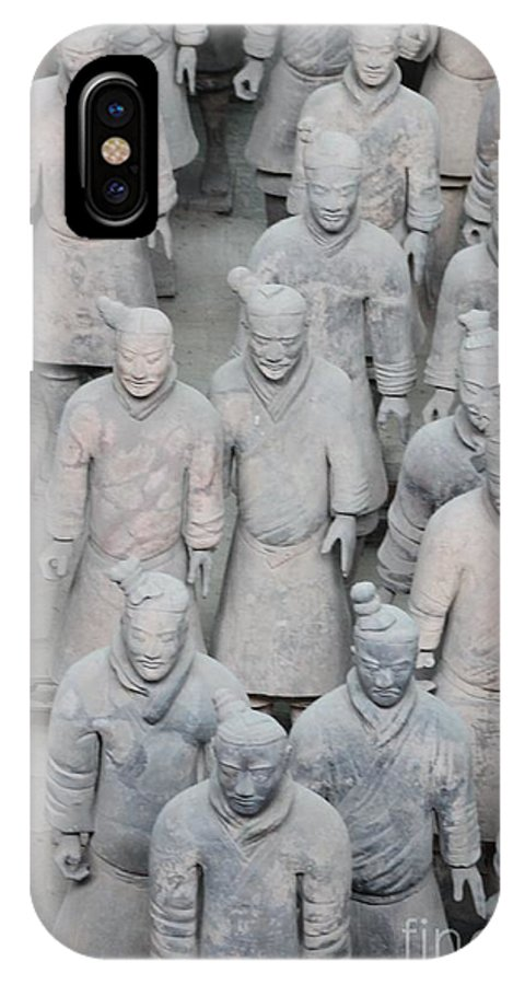 Terra Cotta IPhone X Case featuring the photograph Terra Cotta Warriors Detail by Thomas Marchessault