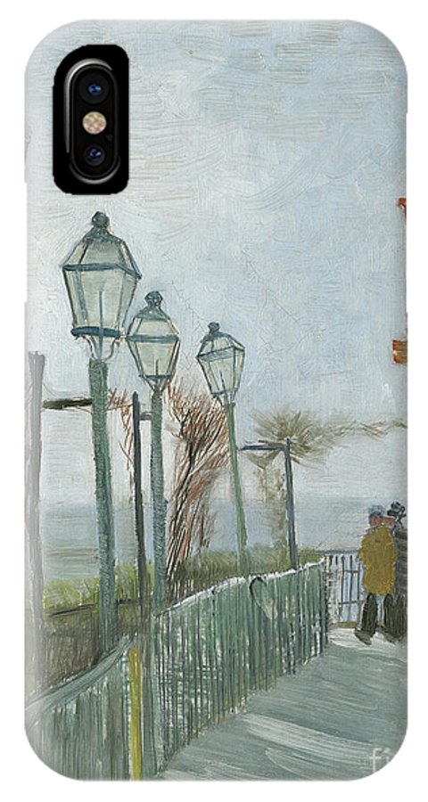 Montmartre IPhone X Case featuring the painting Terrace And Observation Deck At The Moulin De Blute Fin by Vincent Van Gogh