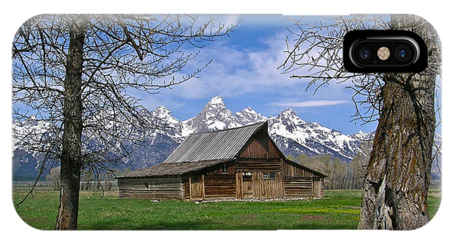 Teton IPhone X Case featuring the photograph Teton Barn by Douglas Barnett
