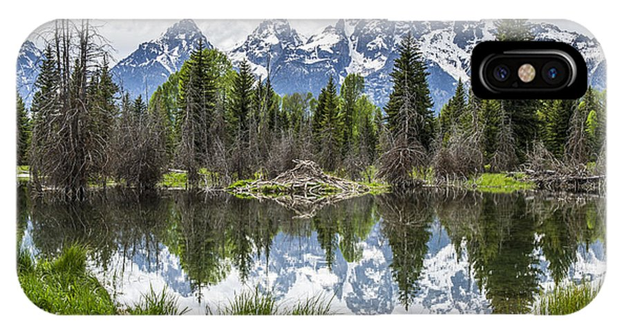 Tetons IPhone X Case featuring the photograph Teton Reflection by Tony Hood