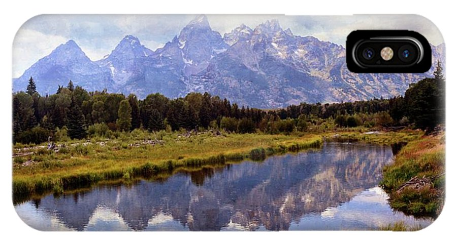 Grand Teton National Park IPhone X Case featuring the photograph Tetons At The Landing 1 by Marty Koch