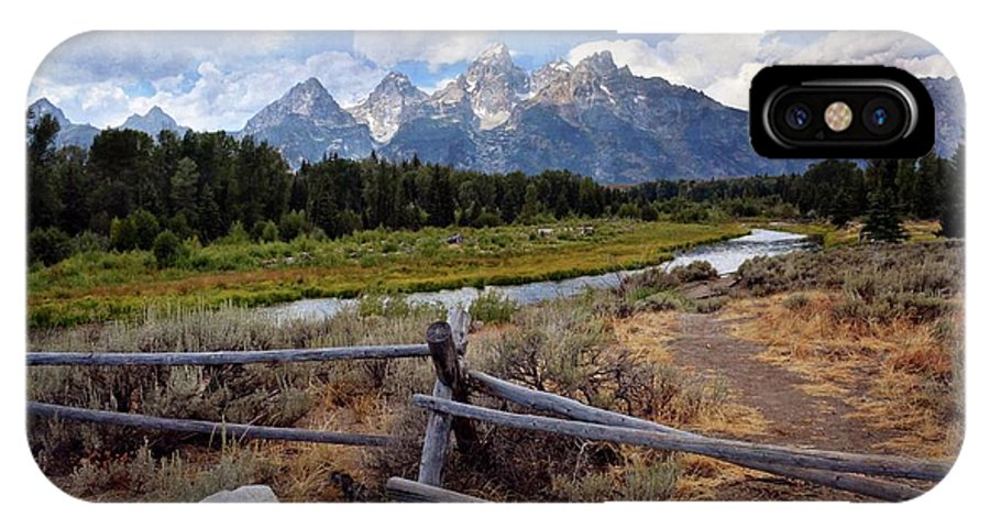 Grand Teton National Park IPhone X Case featuring the photograph Tetons Grande 3 by Marty Koch